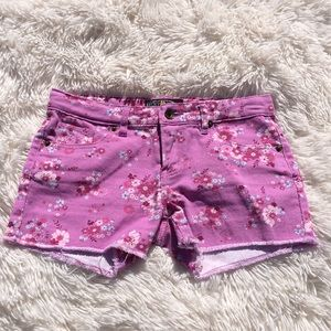 NWOT LUCKY BRAND Purple Flowered RILEY Shorts - 12